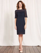 Boden Poppy Lace Dress Navy Size UK 10R LF078 GG 11