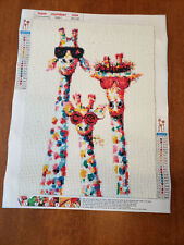 5D Diamond Art Painting Embroidery 30x40cm 3 super cute Giraffes with glasses on