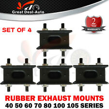 4 x  RUBBER EXHAUST MOUNTS 40, 50, 60, 70, 80, 100 SERIES Fit TOYOTA LANDCRUISER