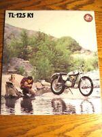 1974 Honda TL-125 K1 Motorcycle Trail Bike Brochure, Xlnt Original
