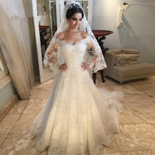 Lace A-Line Wedding Dress White/Ivory Bridal Gown Custom Made Plus Size2-28