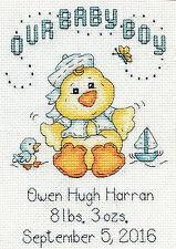 Cross Stitch Kit ~ Design Works Baby Chick Boy Birth Announcement #Dw2897