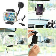Universal Handsfree Wireless Bluetooth Car FM Transmitter Phone Holder & Charger