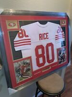 Jerry Rice Authentic Autograph Framed Jersey COA  Niners