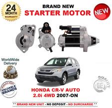 para HONDA CRV Automático 2.0i Motor De Arranque 2007-on RE5 1.2kw 9 Dientes