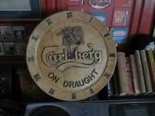 More details for carlsberg lager pub wall clock .(man cave)