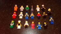 SET OF 20 GENUINE LEGO  MINIFIGS NICE SELECTION COMPLETE HAIR HATS HELMETS ETC