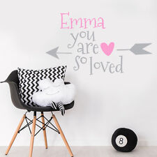 Custom Little Baby Girl Name Personalise Bedroom Wall Sticker Nursery Decal