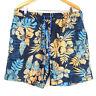 Caribbean Joe Men's Swim Trunks Size XL Multi-Color Hawaiian Drawstring Waist