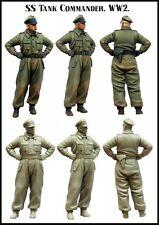 1/35 RESIN MODEL KIT FIGURE SS Tank Commander (1 TOP qualité moulé Figure)