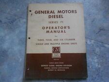 1956 GM GENERAL MOTORS DIESEL 71 OPERATOR'S MANUAL 3 4 6 CYLINDER ORIGINAL OEM