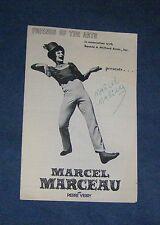 Signed Program MARCEL MARCEAU Hofstra Univ Playhouse 1979