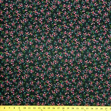Nancy Navy Print Fabric Cotton Polyester Broadcloth By The Yard 60""