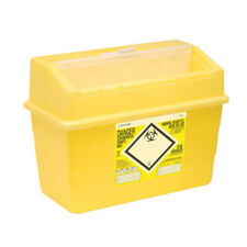 Click Medical Sharps Bin Temporary & Final Closure Feature 24l Yellow Cm0648