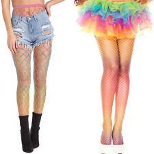 Spandex Rainbow Brite Costume Cosplay Tights Fishnet Pride Diamond Net Pantyhose