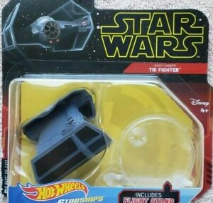 Darth Vader Tie Fighter Star Wars Starships Hot Wheels 2018 New Sealed Stand