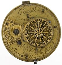 GROCOTT HOLYWELL ENGLISH VERGE FUSEE POCKET WATCH MOVEMENT SPARES REPAIRS C232