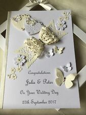 Handmade Personalised Boxed Keepsake Wedding Day Card Engagement Anniversary
