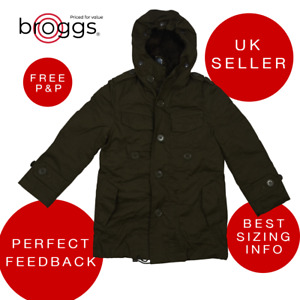 Boys Hooded Parka Coat Jacket with Detachable Faux Fur Inner Lining 5-6 Years