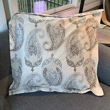 Pottery Barn Dori Paisley Floral Pillow Euro Sham Warm & Cool Gray Free Shipping