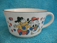 Disney Baby Donald Duck and Baby Goofy Ceramic Bowl with Handle ~ CUTE!