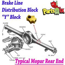 Fits 66 67 68 69 73 8.75 B Body Rear Axle Brass Tee Block Brake Hose Splitter