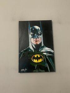 """Batman Michael Keaton Movie 12""""x18"""" Pop Art Painting Chris Cargill"""