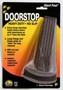 """Master Caster Giant Foot Brown Doorstop No-Slip Rubber Wedge 3.5"""" x 6.75"""" x 2"""""""