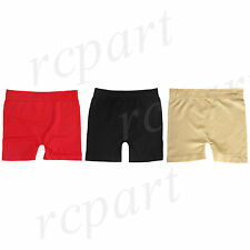 New Women's Nylon Spandex Boxer Briefs Underwear one size red black beige