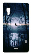 CUSTODIA COVER CASE UCCELLO NELLA FORESTA BIRD PER LG OPTIMUS L4 II E440