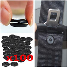 100 Pcs Universal Clips Seat Belt Stopper Buckle Button Fastener Safety Car Part