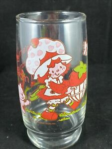 "1980's American Greetings Strawberry Shortcake 5"" Tall Drinking Glass Cup"