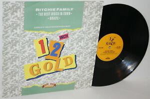 """THE RICHIE FAMILY - THE BEST DISCO IN TOWN / BRAZIL 12"""" VINYL UK 1990 0G4092 VG+"""