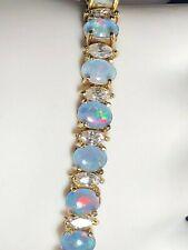 Suzanne Somers Oval-Cut Opal & Marquise-Cut CZ Bracelet