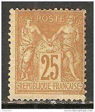 FRANCE - Y&T # 92 - (*) - difetti di dentellatura