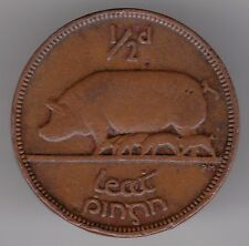 Ireland 1942 1/2d Half-Penny Bronze Coin - Sow with Piglets