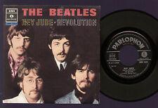 "7"" BEATLES HEY JUDE / REVOLUTION PARLOPHON ITALY 1968 LENNON McCARTNEY N/MINT"