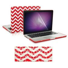 """Matte Chevron RED Case + Keyboard Cover + LCD for Macbook Pro 15"""" Retina A1398"""