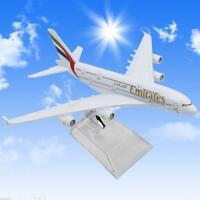 Diecast Modell Airbus380 Emirates Airlines A-380 Flugzeug Flugzeug 16cm Heiß