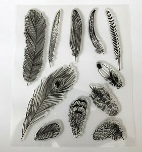 Feather Clear Stamps - 11 Different Stamps