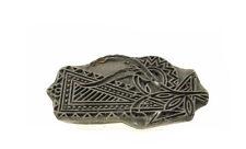 Antico Bunta Stampo in legno stampa Tessuto tessile Batik Rajasthan India D6 G