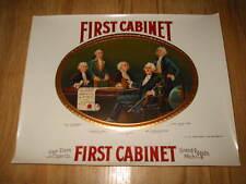 Original Old First Cabinet CIGAR Label - GEORGE WASHINGTON
