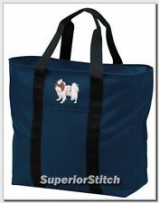 JAPANESE CHIN embroidered tote bag ANY COLOR