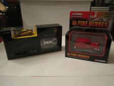 LAMBORGHINI MICRO CONTROL CAR & 2002 CORGI FIRE HEROES - NEWARK F. D. - TUB RS