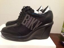BIKKEMBERGS Black Silver Wedges Heels Sneakers Shoes 39 EU 9 US