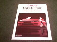 1987 1988 Toyota 4WD Celica GT-Four-Reino Unido Color prospecto Folleto