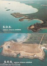 * TORRE GUACETO - 3 Cartoline - S.O.S.Natura chiama Uomo 1986 Esp.Filatelia