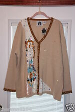 STORYBOOK KNIT SWEATER 3X NEW WITH TAGS,  THE THREE AGES OF WOMEN