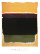 ABSTRACT ART PRINT - 1949 by Mark Rothko Brown Yellow Green Poster 38x28