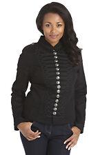 Stella Morgan Military Jacket Embellished Buttons Short  12 (M)  Black/Silver